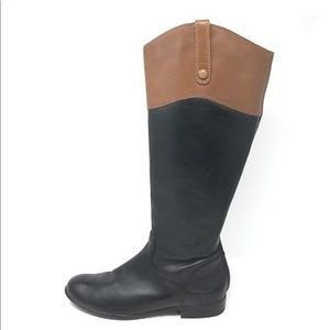 Ciao Bella | Two Tone Leather Riding Boots